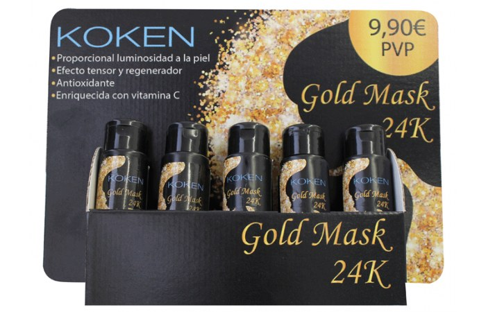 Gold Mask 24K expositor 10 ud